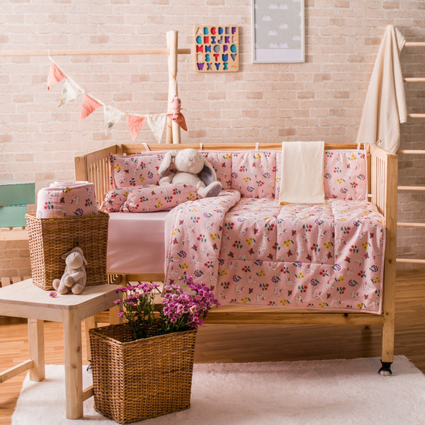 Baby Cot Bedding Set - Rabbit