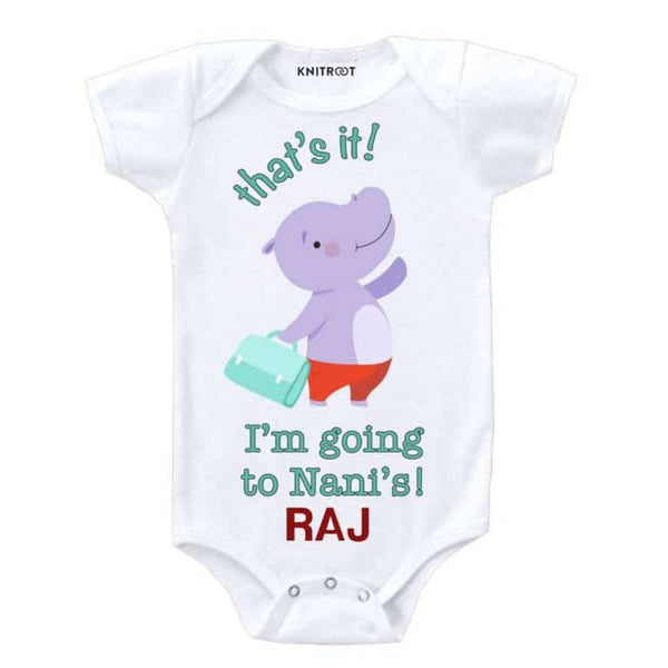 I'm Going to Nani's Onesie | Personalised Baby Onesie