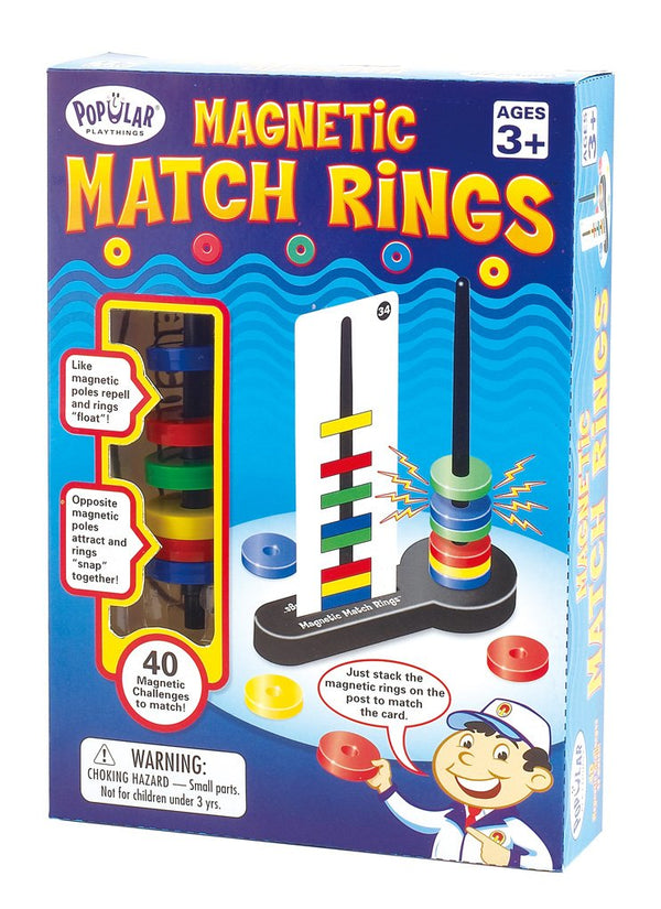 Magnetic Match Rings - Preschoolers Age 3 Years+