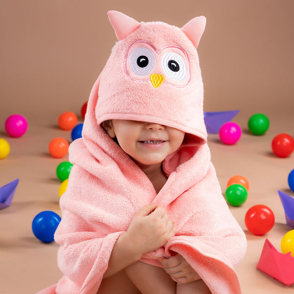 Kids Hooded Towel - Owl | Towels & Wrappers