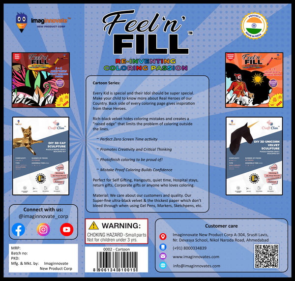 Feel 'N' Fill Unique Kids Activity Kit