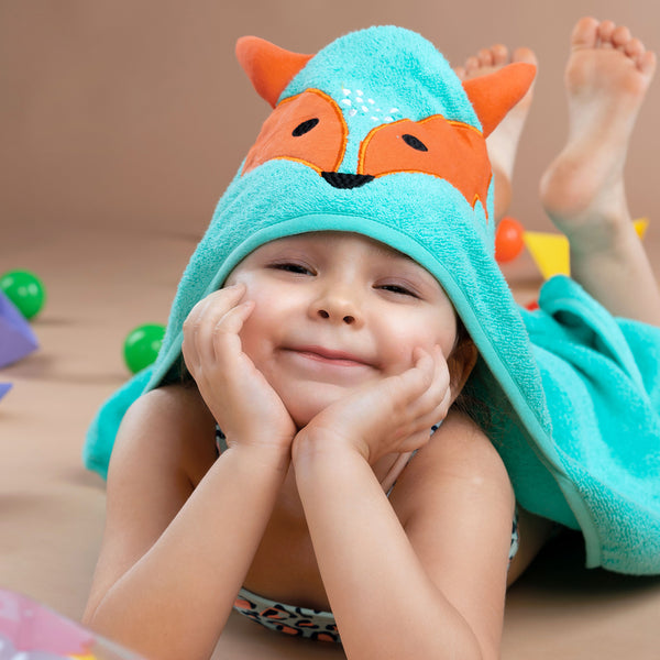 Super Soft Zero Twist Hooded Bath Towel - Fox | Towels & Wrappers