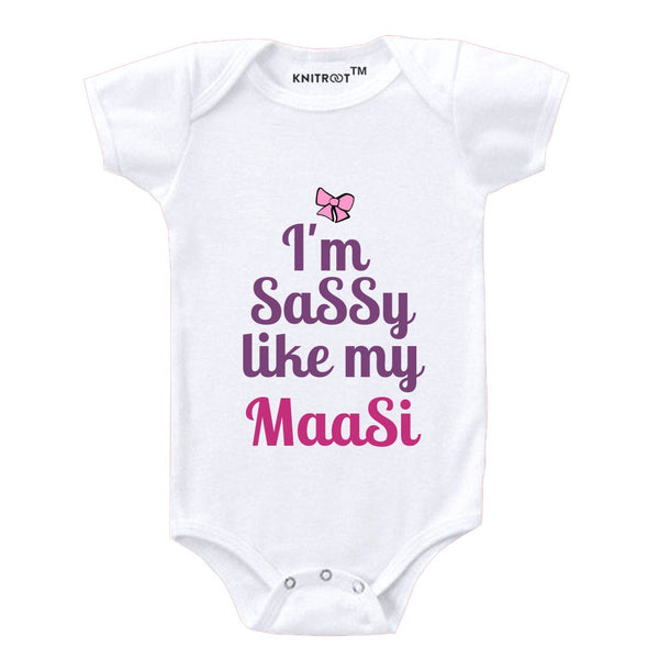 Sassy Like My Maasi Love | Personalised Baby Onesie