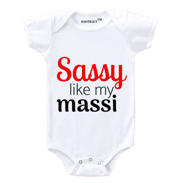 Sassy Like My Maasi | Personalised Baby Onesie