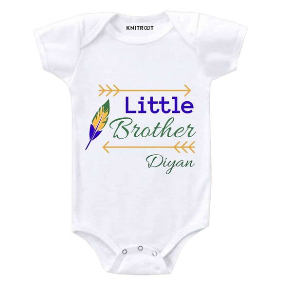 Little Brother | Personalised Baby Onesie