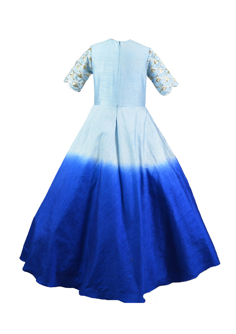Two Shade Blue Gown themumsshop