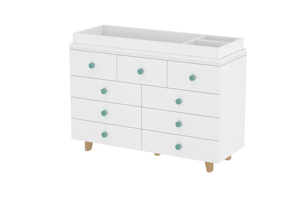 LittleBird Chest of Drawers X2 & Changing Table | Baby Furniture