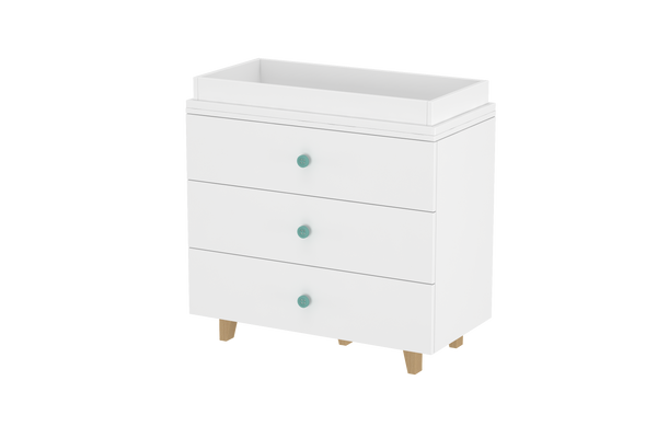 LittleBird Chest of Drawers X1 & Changing Table | Baby Furniture