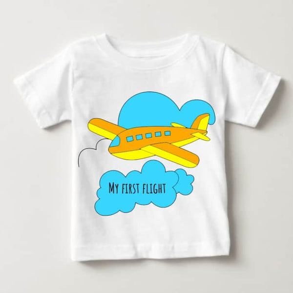 "Baby Romper ""My First Flight"" 