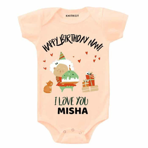 Happy birthday Nani, I Love You - Personalised Baby Onesie