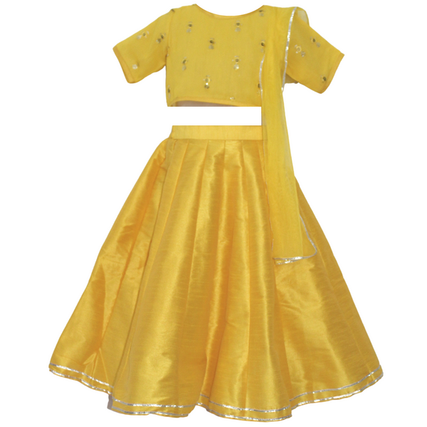 Yellow Lehenga Set -Girls Indian Wear
