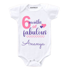 6 Months of Fabulous Baby Clothes | Personalised Baby Onesie