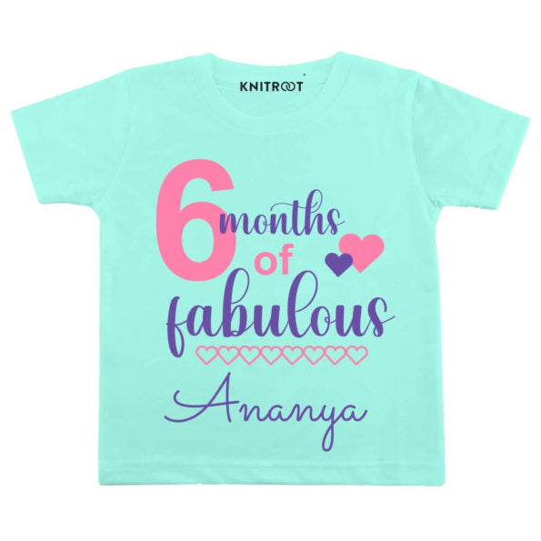 6 Months of Fabulous Baby Clothes | Personalised Tshirt