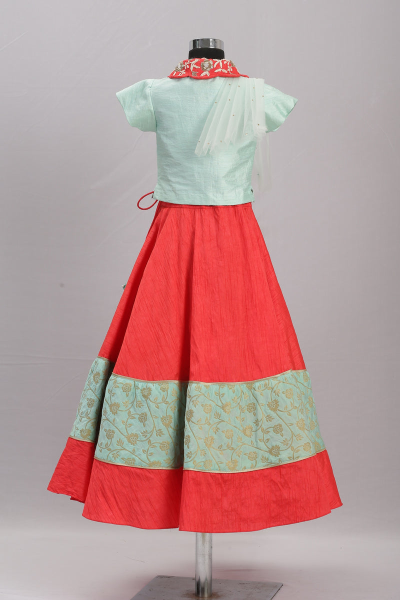 Brocade Border Lehenga themumsshop