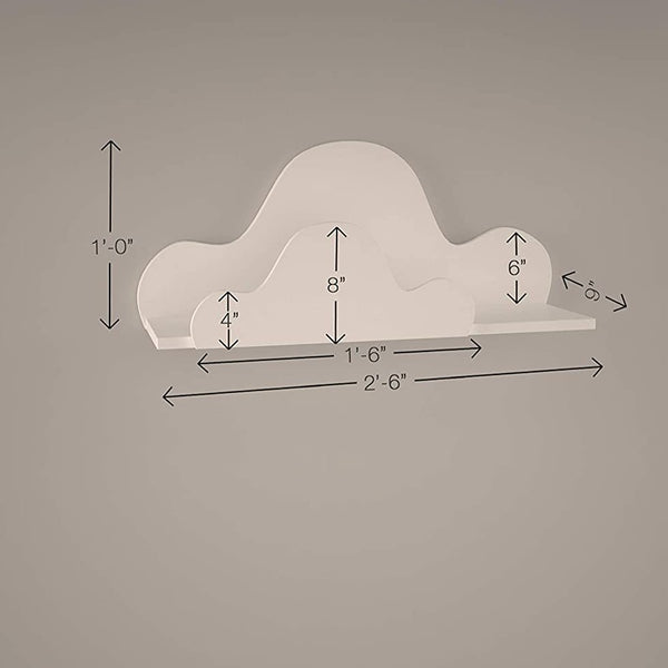 LittleBird Cloud Wall Shelf | Kids Furniture