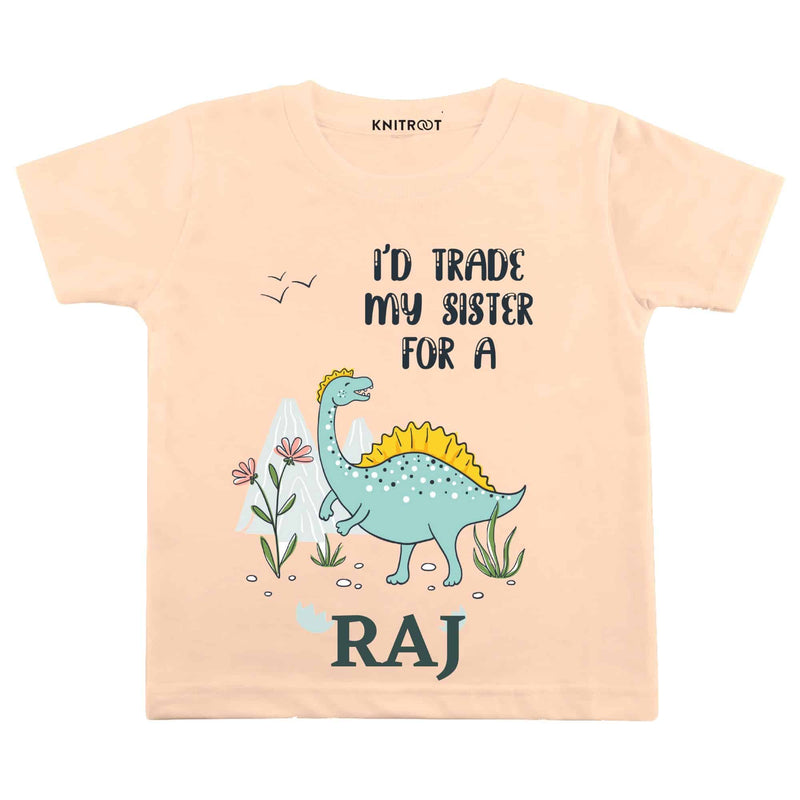 Sister for Dino | Personalised Tshirt