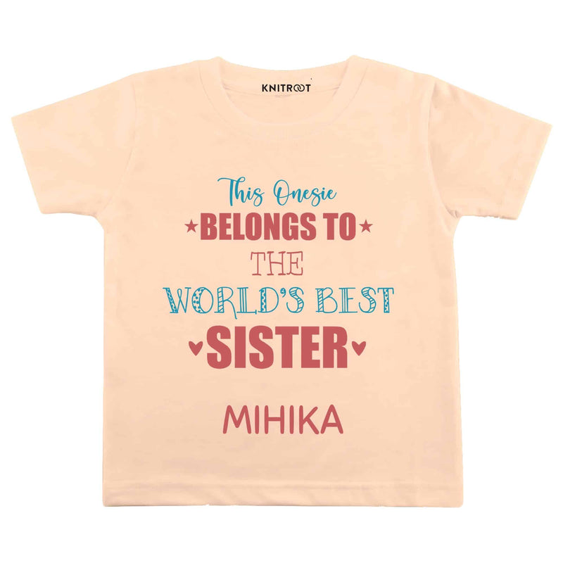 World's Best Sister | Personalised Tshirt