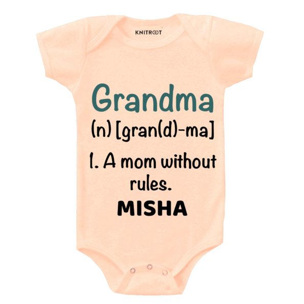 Grandma, A mom without rules | Personalised Baby Onesie
