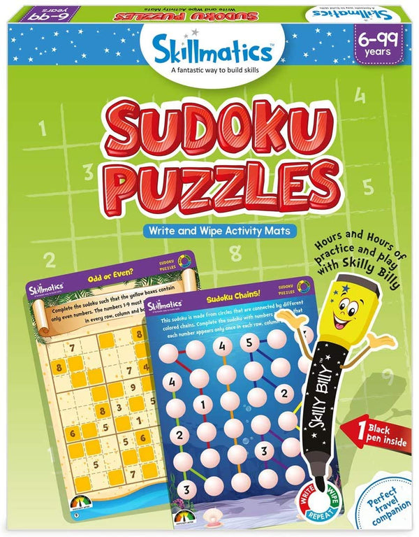 Sudoku Puzzles - Educational & Learning - For Age 6 Years+