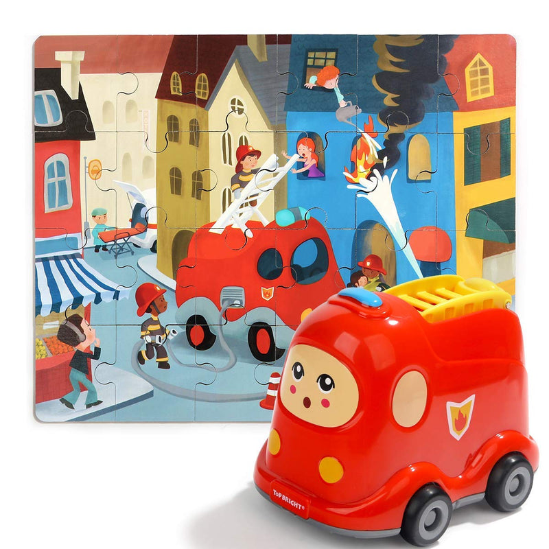 Wooden Puzzles in Fire Truck | Age -2+ Years