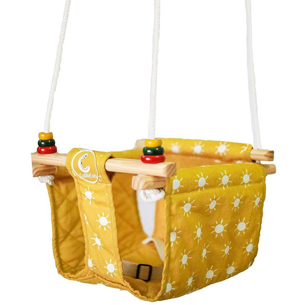 CuddlyCoo Baby & Toddler Swing Sun Print - Mustard Yellow