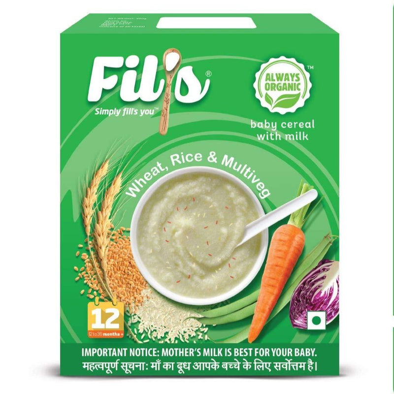 Fils Organic Baby Cereal With wheat rice and multiveg - 300 gm | Baby Food