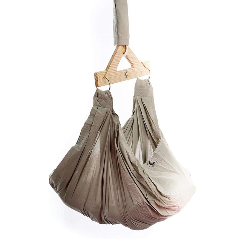 Baby Hammock With Mosquito Net - Organic Cotton Grey themumsshop