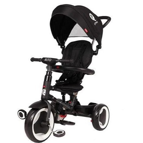 QPlay Rito Premium Foldable Baby Tricycle - 5 in 1 Black