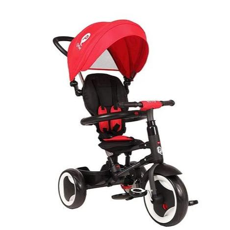 QPlay Rito Premium Foldable Baby Tricycle - 5 in 1 RED