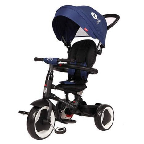 QPlay Rito Premium Foldable Baby Tricycle - 5 in 1 Blue