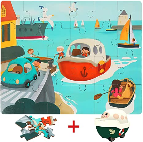 Wooden Puzzles in Ship | Age -3+ Years