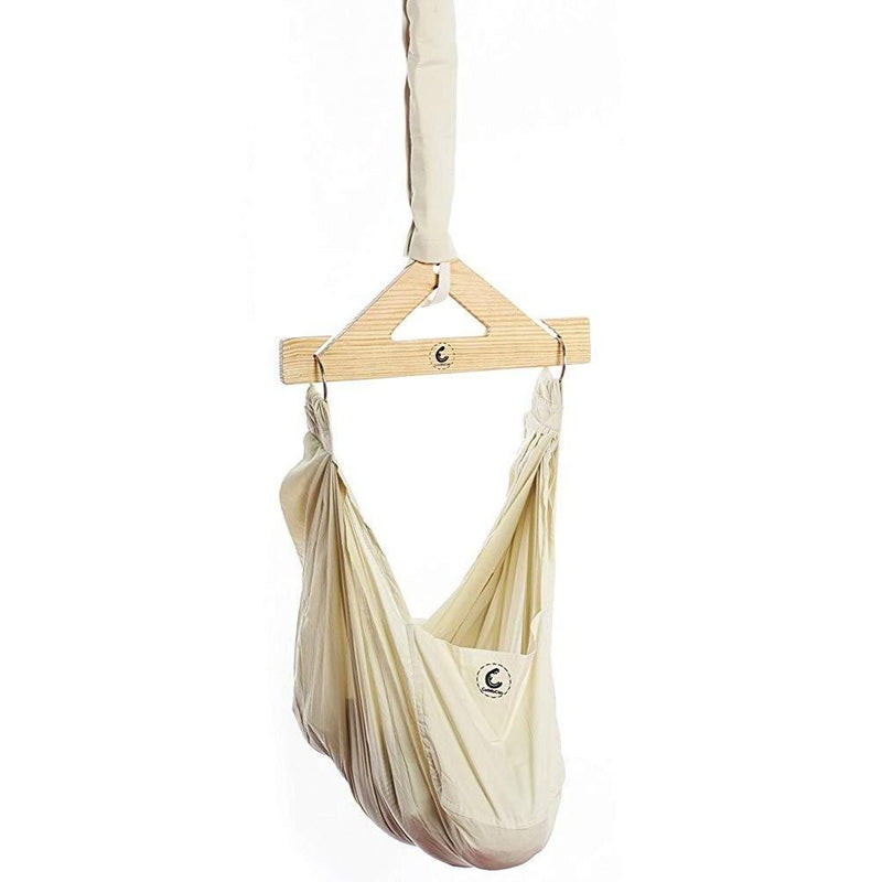 Cuddlycoo Baby Hammock With Mosquito Net - Organic Cotton Beige themumsshop