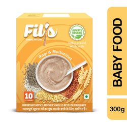 Fils Organic Baby Cereal With ragi  & Multimillet - 300gm | Baby Food