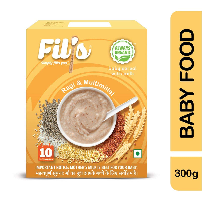 Fils Organic Baby Cereal With ragi & Multimillet - 300gm -Baby Food