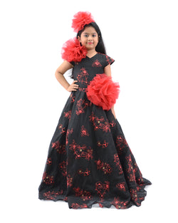 Black Emb Gown-Clothes-THE MUM SHOP
