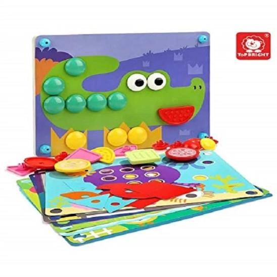 8 In 1 Button Puzzle - Age -3 Years+