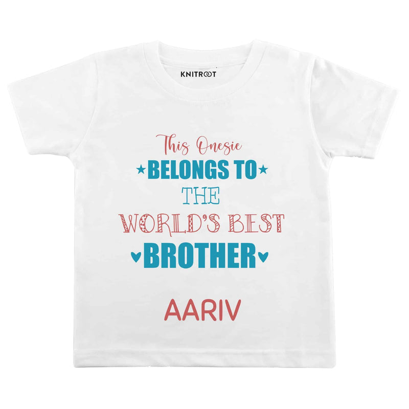 World's Best Brother | Personalised Tshirt