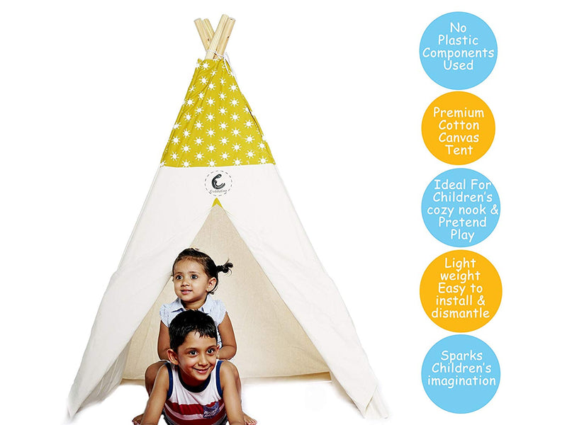 Cotton Canvas Teepee Tent Mustard Sun themumsshop