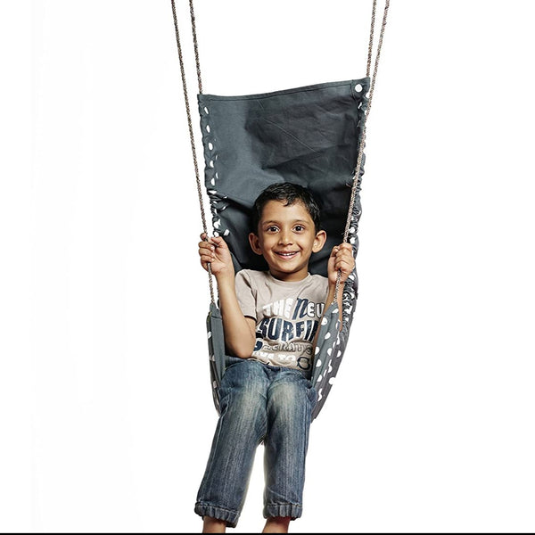 CuddlyCoo Children's Hammock Swing - Grey Polka-Kids Swing