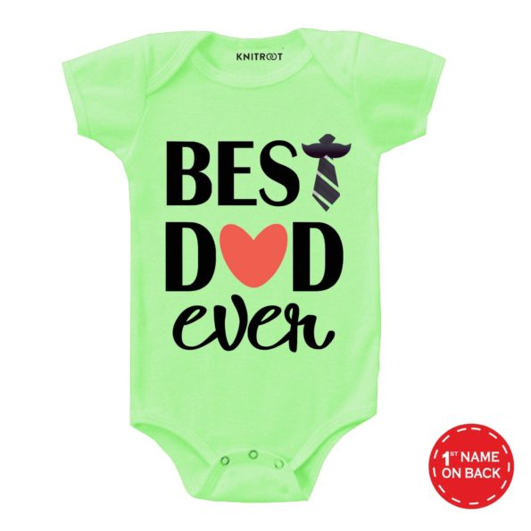 Best Dad Ever Father's Day Romper | Personalised Baby Onesie