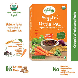 Whole Wheat Pasta with Beetroot, Spinach and Carrot - 250g themumsshop