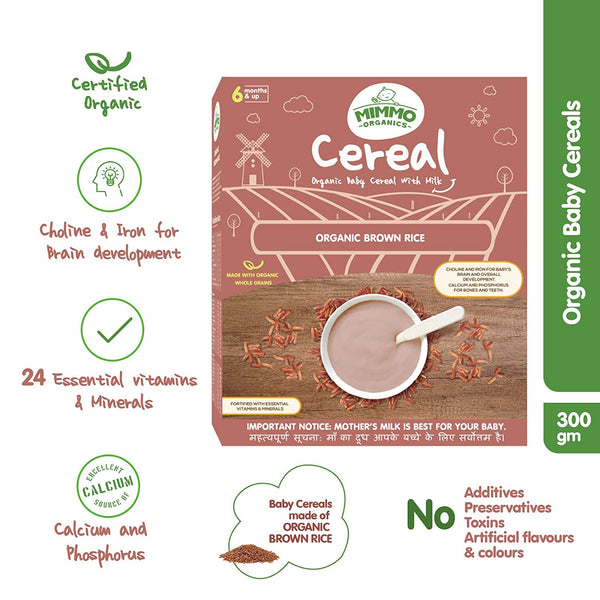 Certified Organic Brown Rice Baby Ceral - 300 g themumsshop
