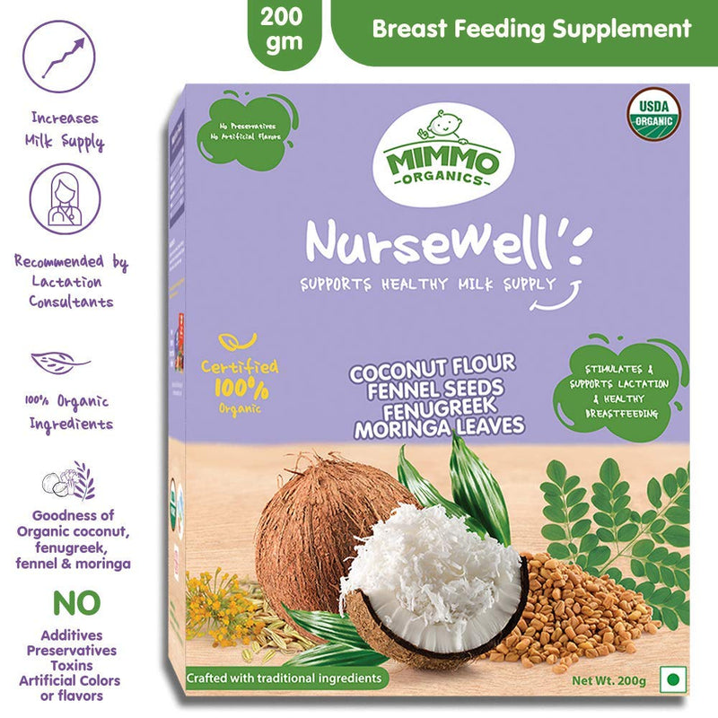 NurseWell - Organic Breast Feeding Supplement - 200 gm themumsshop