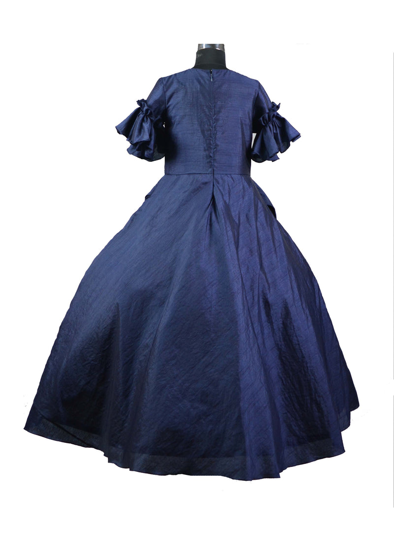 Navy Front Cowl Gown themumsshop