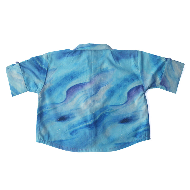 Cloudy Cropped Shirt themumsshop
