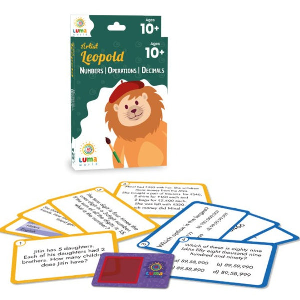 Artist Leopold : Flash Cards with Magic Glass | Game & Toys | Age 10+ Years