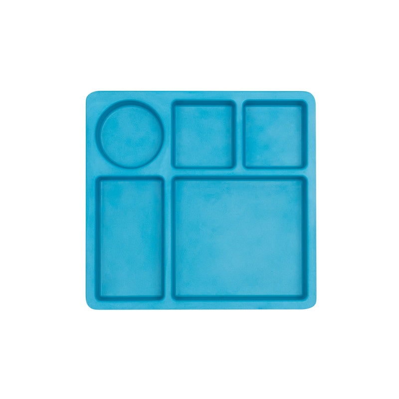 Bamboo Divided Plate for Kids, 5 Portioned Sections - Dolphin Blue themumsshop