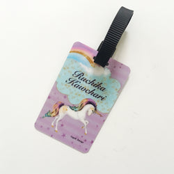Bag Tags Unicorn - Personalised Pack of 2
