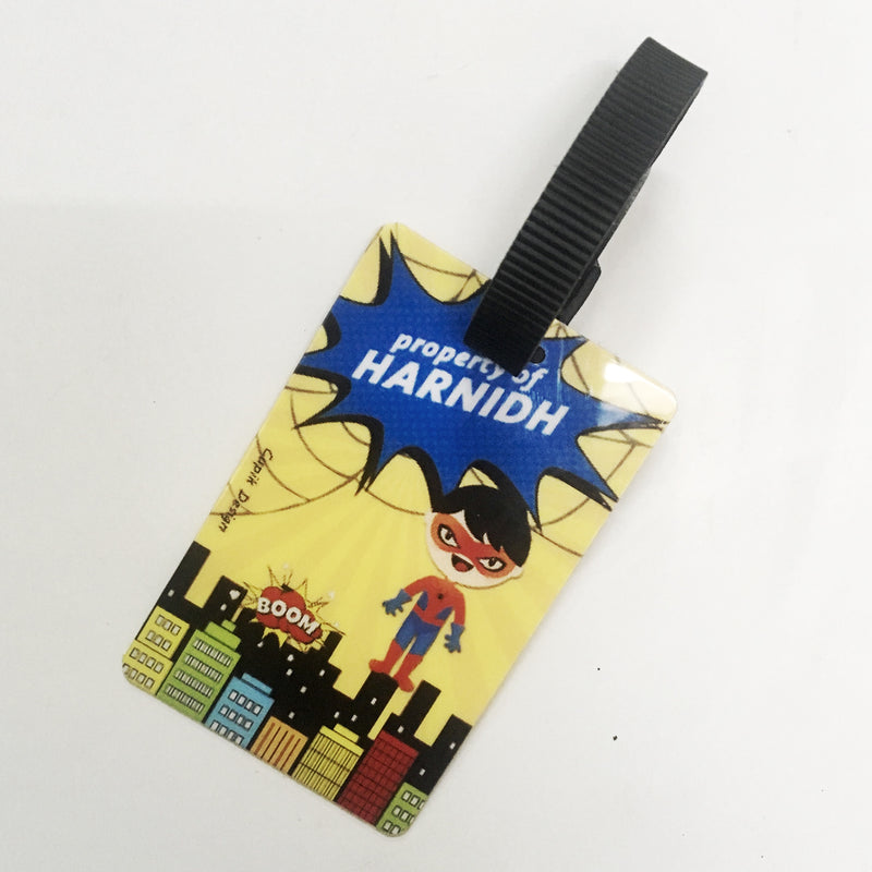 Bag Tags Spiderboy - Personalised Pack of 2