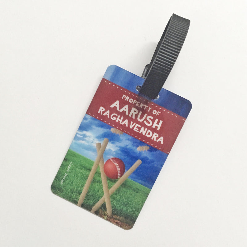 Bag Tags Cricket - Personalised, Pack of 2